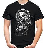Marilyn Monroe Männer und Herren T-Shirt | Tattoo Vintage Rockabilly Hollywood Kult ||| M5 (XL, Schwarz)