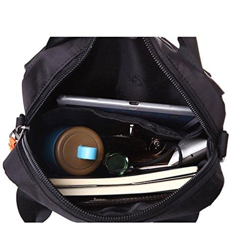 Supa Moden Herren Nylon Messenger Bag Cross-Body-Tasche Pack Organizer Umhängetasche Outdoor Wandern Pack 4. Sling Umhängetasche Rot