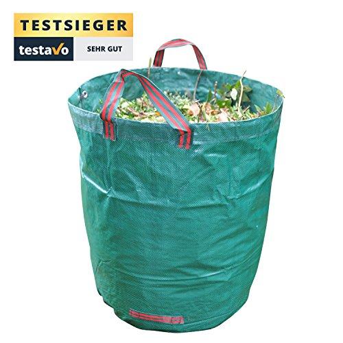 Gartensack mit extra 272L Fassungsvermögen und einer Stärke von 150g/m² | Sack ist extrem wasserabweisend und reißfest – Perfekt geeignet für Garten, Gartenarbeit & Outdoor von GardenTastico®