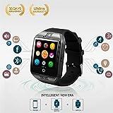 bluetooth smart watch handy mit kamera tf / sim - card - slot für android (schwarz)