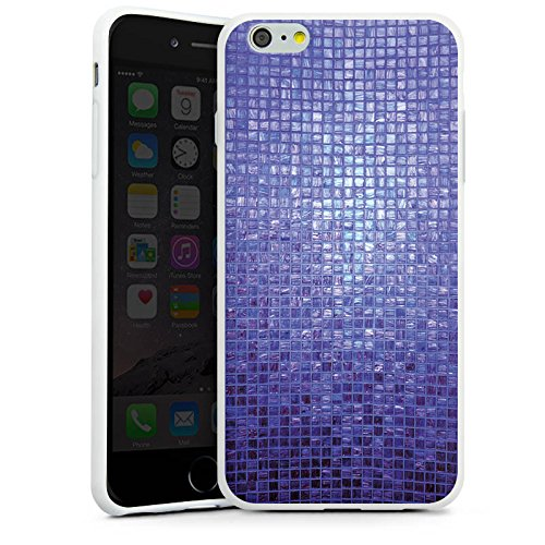 Apple iPhone X Silikon Hülle Case Schutzhülle Mosaik Steine Muster Silikon Case weiß