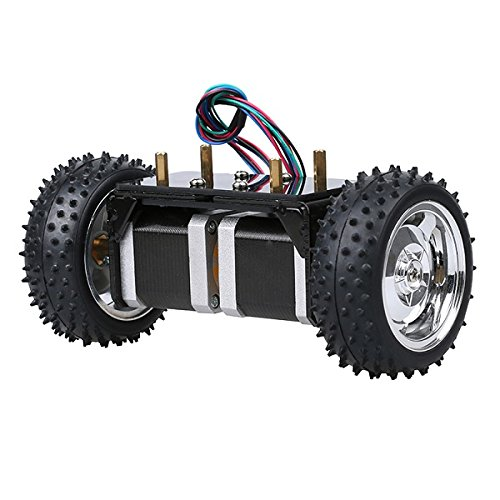 DIY 2 Phase 4,16 V Intelligente 42 Schrittmotor Zwei LaDicha Rad Selbstausgleich Smart Roboter Auto Chassis Kits (Phase Beleuchtung)