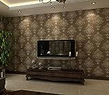 NEIYITX Im Europäischen Stil Retro 3D Geprägte Vliestapete Schlafzimmer Voller Shop Wohnzimmer Hintergrund Hotel Beauty Salon Club Tapete,Copperandbronze