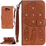 PQ-MALL Samsung Galaxy A3 (2016) Coque, Bling Bling Marron Etui Housse (Gaufrage ) Pour Samsung Galaxy A3 (2016) SM-A310F Récompense: Récompense:stylet inclus X1