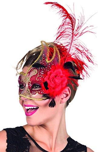 Boland 00281 - Augenmaske Venice cigno, rot (Ideen Es Hause Sie Zu Halloween-kostüm Machen)