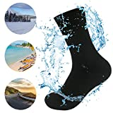 WATERFLY Knöchel Länge Wasserdichte Socke Ultralite River Trekking Tracing Breathable Professionelle Socken Unterwasser für Sport Im Freien Wandern Reisen Klettern Laufen Motorrad (Schwarz, L)