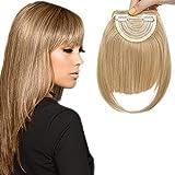 Frange a Clip pour Extension [2 Clips Anti-Glisse] On Dirait de Vrai Cheveux (8'=20cm,30g) [Ash Blond] Fausse Frange pas Cher