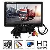 17,8cm multifunzione Bright color interfaccia VGA AV TFT LCD auto Home monitor 1024x 600