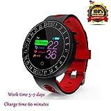 CYGG Fitness-Tracker, Gesundheits-Monitor, Herzfrequenz-Monitor-Racker-Uhr mit Schlaf-Monitor, Schrittzähler, Wasserdichte Schrittzähler-Uhr Für Kinder, Frauen und Männer (Rot)