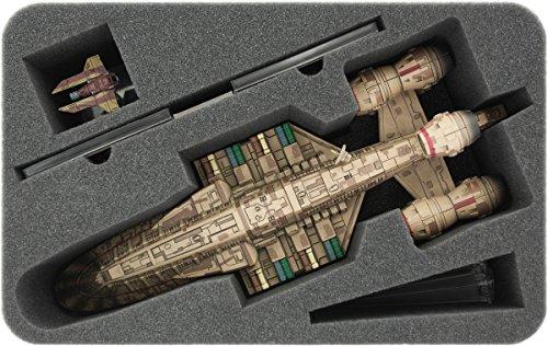 HSKD100BO 100 mm Half-Size Schaumstoff für Star Wars X-WING C-ROC Kreuzer