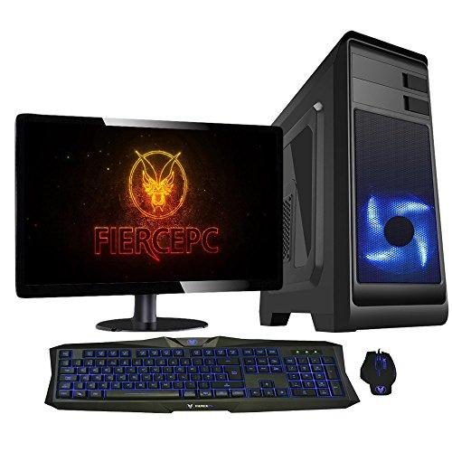 Fierce Bandit Hero Gaming PC Bundeln - Schnell 4.1GHz Hex-Core AMD FX-6300, 1TB Festplatte, 16GB 1600MHz, NVIDIA GeForce GTX 1060 6GB, Tastatur (VK/QWERTY), Maus, 21.5-Zoll-Monitor 239768
