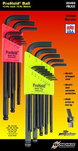 20499-Bondhus-Balldriver « ProHold? Innensechskantschlüssel Doppelpack, 74937(.050-3/8Zoll) & 74999(1,5-10mm) - Balldriver-hex-tool
