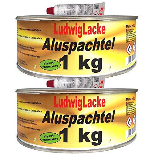 2 Dosen Alu Spachtelmasse für KFZ Reparaturen a 1000 gr