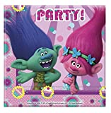 "DreamWorks 49795"" Trolls Party Tableware Two-Ply Paper Napkins"