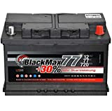 Autobatterie 12V 77Ah 720 A/EN BlackMax77 ersetzt 68 70 72 75 80 85 AH