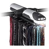 oneConcept Savile Row Porte-cravates électrique jusq'à 72 cravates et 8 ceintures (défilement à droite ou à gauche, éclairage intégré avec extinction automatique)
