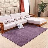 RUG LUYIASI- Die Lammfell Teppich Wohnzimmer Couchtisch Teppich Bettwäsche Nachtdecke Non-Slip Mat (Farbe : Lila, Größe : 80x200cm)