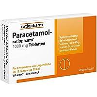 Paracetamol-ratiopharm 1000 mg Tabletten, 10 St. preisvergleich bei billige-tabletten.eu