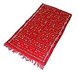 Beni ourain rot mit orange und weiß Designs handgewebte handgefertigt Kelim Hohe Qualität Super Soft Wolle Joppe Berber Teppich–4ft 8x 2ft 12,7cm (1,47x 0,74m)