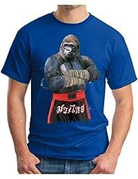 OM3 Muay-Thai-Gorilla - T-Shirt Thailand Monkey Fight APE Boxing Club Motivation SWAG Emo