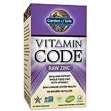 Garden of Life Vegan Zinc–Vitamine Code Raw Zinc tout Complément alimentaire avec vitamine C, 60capsules