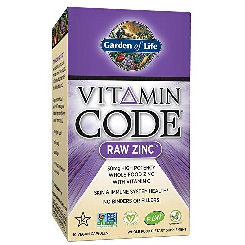 Jardín de vida–Zinc–Vitamina código Raw Zinc todo alimentos suplemento con...