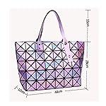 Damen Japanisch 7 * 8 Laser Handtasche Ling Ge Geometrisch Falten Vielfalt Umhängetasche Rubik's Cube Handtasche