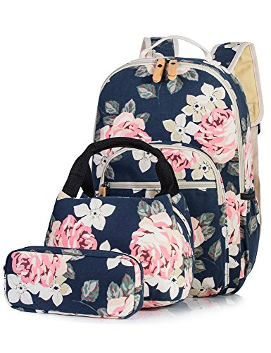 Backpack for Girls  Fashion Floral College Student School Laptop Backpack  Lunch ddc28387bc066