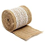 Morza 6cmx2m cordón de Lino de la Cinta de Yute arpillera