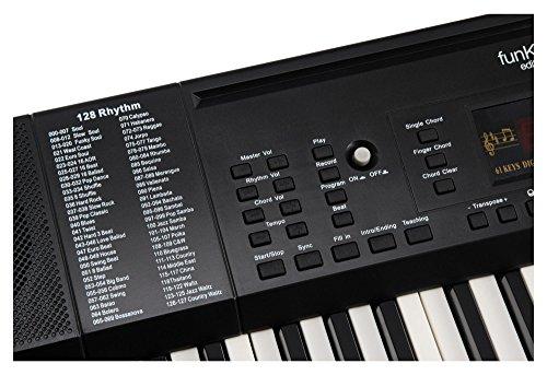 Funkey 00038126 61-Edition Keyboard (128-Sound, 128-Rhythmen, 10-Demo Song, Netzteil, Notenständer) schwarz - 4