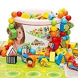 Montessori Perlen, für Kleinkinder, Babies, Lernspielzeug in praktischer Box für Jungen und Mädchen ab 3 Jahren