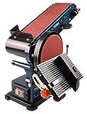 FERM Bandschleifmaschine – 350W – 150mm - einschl. 2 Schleifbänder (P80 & P120) und 2 Schleifscheiben (P80 & P120)