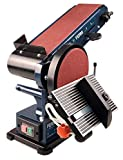 FERM Levigatrice da Banco Combinata - 350W - 150Mm - Incl. 2 Nastri Abrasivi (P80 E P120) e 2 Dischi Abrasivi (P80 E P120)