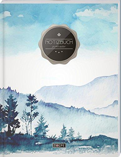 """TULPE Punktraster Notizbuch A4 \""""C055 Oilpainting\"""" (140+ Seiten, Vintage Softcover, Punktkariertes Papier - Bullet Journal, Dickes Notizheft, ... Gepunktete Seiten, Dot Grid Notebook)"""