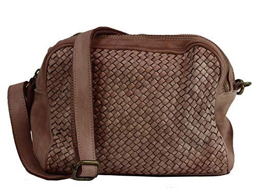 BZNA Bag Lucy Rose powder Italy Designer Clutch Braided Ledertasche Umhängetasche Damen Handtasche Schultertasche Tasche Leder Shopper Neu
