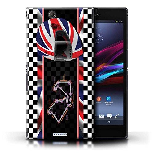 Kobalt® Imprimé Etui / Coque pour Sony Xperia Z Ultra / Monaco/MonteCarlo conception / Série F1 Piste Drapeau UK/Silverstone