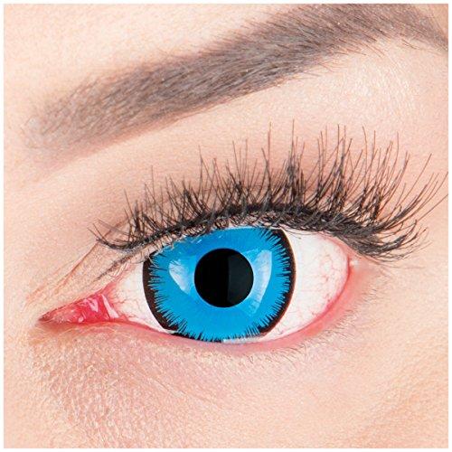Halloween Kontaktlinsen 'Alper' - 17mm MeralenS Horror Lenses inkl. Behälter - 1Paar (2 Stück) ()