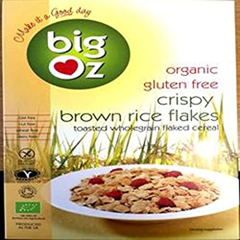 Big Oz - Organic & Gluten Free Crispy Brown Rice Flakes - 350g (Case of 5)