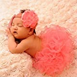 #5: SYGA Baby Infant Newborn Handmade Crochet Tutu And Headband Set Clothes Baby Girl Photo Booth Props