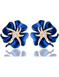 Shining Diva Fashion Jewellery Flower Stylish Fancy Party Wear Stud Tops Earrings For Women And Girls