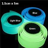 Inovey 5Mx15Mm Leuchtklebeband Selbstklebend Grün Blau Leuchtend Im Dunkeln Sicherheitsstufe Home Decor -Blau