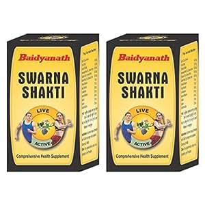 Baidyanath Swarna Shakti Ras - 20 Cap (Combo)