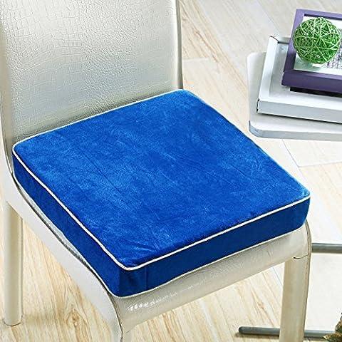 VANCORE peluche cuscino in schiuma auto quadrato cuscini per sedia, 6colori Blue