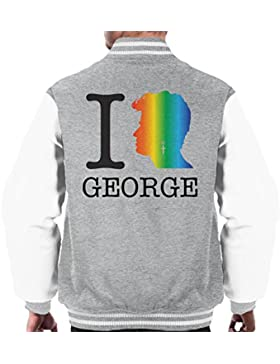 I Heart George Michael Rainbow Men's Varsity Jacket
