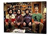 Big Bang Theory, Format: 80x60 Leinwandbild auf Holzrahmen gespannt, Leinwandbild, 1A Qualität zu 100% Made in Germany! Kein Poster Kein Plakat! Echtholzrahmen mit beigelieferten Zackenaufhängern. Fertig bespannt, Sofort dekorieren. Vier verschiedene Formate.