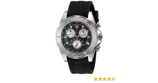 Swiss Legend Men's 18010 01 Tungsten Chronograph Black Dial Watch