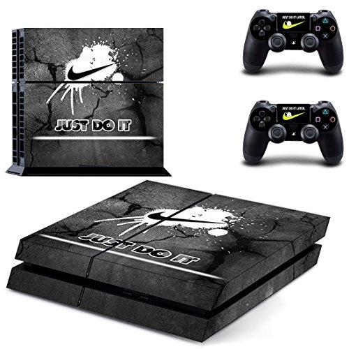 MagicSkin Vinyl Haut Aufkleber Cover Aufkleber für Playstation PS4Konsole und Controller a - Store Nike