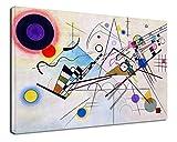 Bild KANDINSKY Komposition VIII - WASSILY KANDINSKY Komposition 8 Leinwanddruck auf Leinwand mit oder ohne Rahmen - wählen Sie die gewünschte Größe von - cm 50 bis 130 cm Breite (DRUCKEN AUF CANVAS (OHNE RAHMEN), CM 130X90)