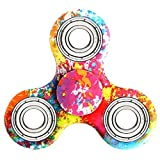 Hand Spinner Stress Relief Toy, Tri-Spinner Fidget Toy Metal Bearing EDC Focus Toy for Killing Time