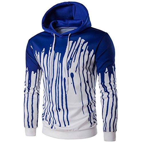 tonsee-hommes-manches-longues-imprime-hoodie-sweatshirt-veste-manteau-outwear-aise-m-bleu